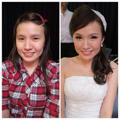 Prewedding makeup, bride: Suet Ying. Before & after #bride #makeup