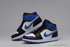 "Preto/Azul Royal/Branco ""Fragment Design"" 716371-040 AIR JORDAN 1 RETRO High"