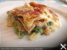 Leichte Spinat - Lachs - Lasagne