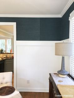 Lessons Learned from Grasscloth Wallpaper - Southern Hospitality Linen Wallpaper, More Wallpaper, Wallpaper Grasscloth, Entryway Wall, Basement Makeover, Something Beautiful, Lessons Learned, Southern Hospitality, Home Remodeling