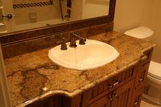 Granite bathroom Countertops   Copper Granite Vanity Countertop   Granite Countertops Las Vegas