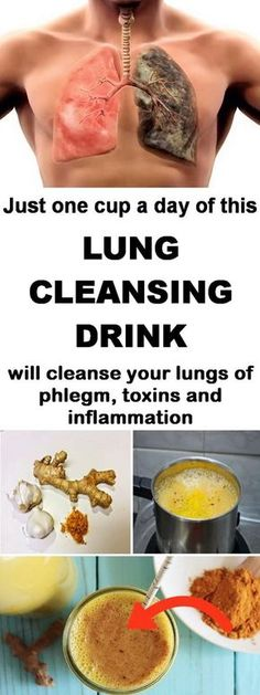 The best lung cleansing drink. Clean phlegm, toxins and inflammation in just a couple of days.