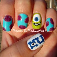 Monsters University http://manisandmakeovers.blogspot.com/2013/07/twinsie-thursday-monsters-university.html