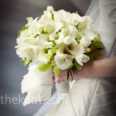 bridal bouquet ~ calla lily, freesia, orchid and roses