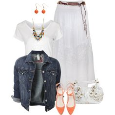 """""""White and Denim"""" by daiscat on Polyvore"""