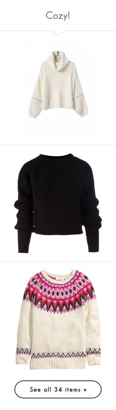 """""""Cozy!"""" by tjclay3 ❤ liked on Polyvore featuring tops, sweaters, shirts, jumpers, black, wool shirt, ribbed shirt, long sleeve crop sweater, shirt sweater and long sleeve shirts"""