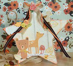 adorable Fall card by May Flaum using 28 Lilac Lane embellishments