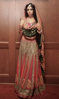Watermelon coloured #lehenga.