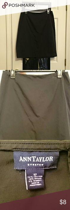 Black Ann Taylor Stretch Skirt Black Ann Taylor Stretch Skirt Ann Taylor Skirts Midi
