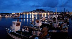 Beautiful picture of Ibiza town..