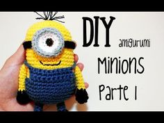 DIY Minions Parte 1 amigurumi crochet/ganchillo (tutorial) - YouTube