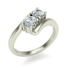 Make a promise to your best friend that you will be there with her forever by proposing with this two stone ring.