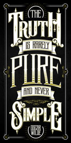 Oskar Wilde´s quote by Peter Bielous, via Behance