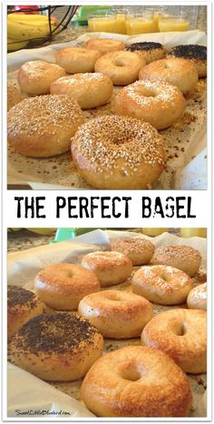 THE PERFECT BAGEL - This tried & true recipe makes the BEST bagels ever! If you've been searching for the perfect bagel...look no further! | SweetLittleBluebird.com