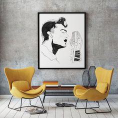 Постер Чет Бейкер джаз трубач певец от WRYdesign на Etsy
