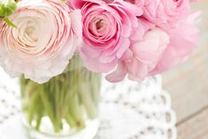 Photo about Bouquet of ranunculus in vase on wooden background. Image of pink, background, romance - 29725735 Ranunculus Bouquet, Pink Carnations, Pink Peonies, Pink Flowers, Beautiful Flowers, Photo Bouquet, Pink Geranium, Flower Wallpaper, Wallpaper Desktop