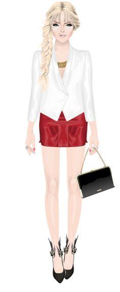 stardoll look Blazer: It Girl - Bazar Falda: YH - Bazar De pie: YH - bazar Subvención: Miss Sixty - plaza Collar Nelly.com - plaza