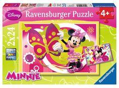 Ravensburger Puzzle - Disney A Day With Minnie (2X24pcs.) (09047)  Manufacturer: Ravensburger Enarxis Code: 015985 #toys #puzzle #Ravensburger #Disney #Minnie