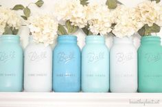 projects with jars, colored mason jars, color mason, paint jar