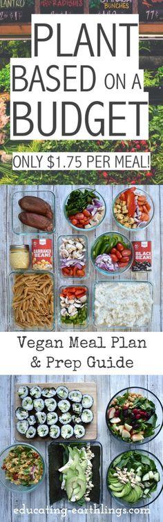 Plant-based on a budget—vegan meal plan