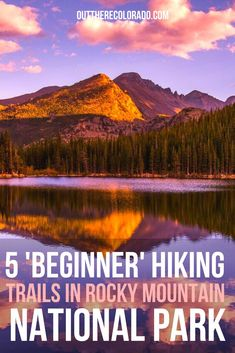 Rocky Mountain National Park offers the best of nature for every level of hiker. Mountain lakes, valleys, and waterfalls are all reachable via these five beginner-level hiking trails in Colorado's most iconic park. #OutThereColorado #Travel #Colorado #ColoradoVacation #ColoradoSprings #Denver #Breckenridge #RockyMountainNationalPark #Mountains #Adventure #ColoradoFall #ColoradoPhotography #ColoradoWildlife #Mountains #Explore #REI #optoutside #Hike #Explore #Vacation Lake Photos, Colorado Hiking, Beautiful Waterfalls, Rocky Mountain National Park, Best Hikes, Hiking Trails, Rocky Mountains, National Parks, Lakes