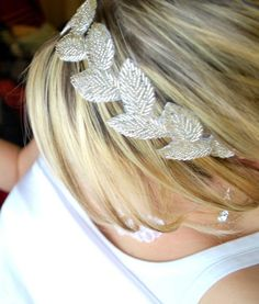 Bridal headpiece -Art Deco Goddess -Vintage inspired ribbon headband or SASH - As seen on Style me Pretty