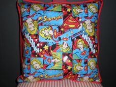 Supergirl Pillows by GoughGoodies on Etsy