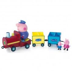 Figurine Peppa Pig : Le train de Papy Pig Peppa Pig Jouet, Peluche Peppa Pig, Peppa Pig Car, Train, Decoration, Wooden Toys, Games, Gaming, Toys