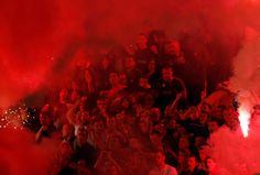 Smoke, Flares, Riot Police In Belgrade Derby Make For Haunting Photos