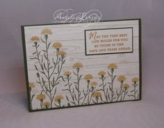 Angela Lorenz Stampin Up Wild About Flowers Hardwood Background