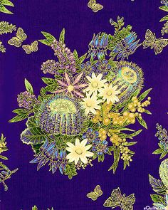 Fabic: Under the Australian Sun 2 - Leesa Chandler Fabric Patterns, Print Patterns, Textile Texture, Mish Mash, Fabric Online, Fabric Design, Printing On Fabric, Fabrics, Bouquet