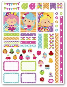 Little Shopper Girls Decorating Kit / Weekly Spread Planner Stickers for Erin…