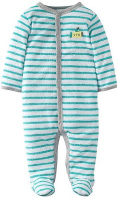 351369f03 Carter's Baby Boys' Terry Footie - Turquoise - 3 Months Carter's http://