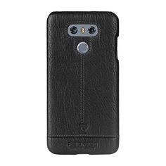 LG G6 Case, Pierre Cardin Premium Luxurious Slim Italian Genuine Cow Leather Hard Back Cover Back Case for LG G6(2017), Black: Amazon.co.uk: Electronics