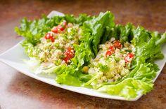 lettuce leaf wrap with easy hummus