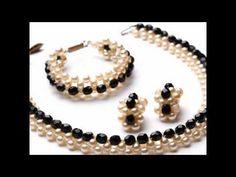 Bracelet with 8mm  4mm Pearl , SB and 4mm SW bicones. Браслет из бисера и жемчуга . - YouTube