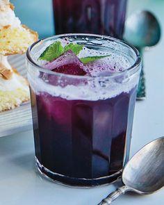Blueberry Crush Cocktail~ fresh blueberries, vodka, sugar, water, lemon juice
