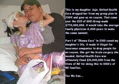 Think those who oppose Obamacare so vehemently still would if this was their daughter? I highly doubt it.