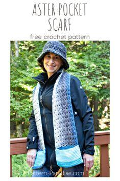 Free Crochet Pattern: Aster Pocket Scarf | Pattern Paradise