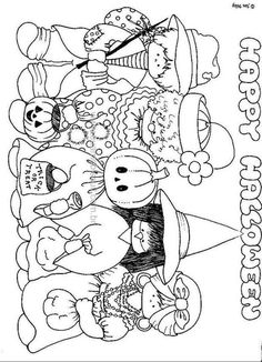 Monthly headers, october ideas, corners and dividers. Manualidades Halloween, Halloween Crafts For Kids, Halloween Activities, Holidays Halloween, Halloween Kids, Happy Halloween, Fall Coloring Pages, Coloring For Kids, Adult Coloring Pages