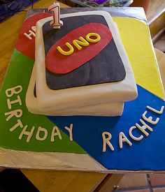 Uno cake. Will definitly have to do this for my future kids 1st birthday.