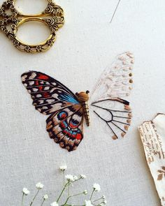 "9,620 Likes, 129 Comments - Humayrah Poppins (@humayrah_bint_altaf) on Instagram: ""Putali (n.) the Nepalese word for butterfly . . Another progress photo of my swallowtail butterfly.…"""