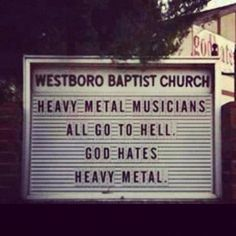 Fallout Boy, Sum 41, Stupid Comments, The Wicked The Divine, Rob Halford, Bible Belt, Church Signs, Judas Priest, Music Humor