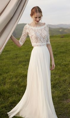 Beautiful wedding gowns from @BHLDN