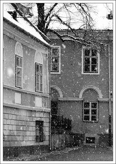 Snowing in Brasov, Romania