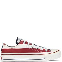 Chuck Taylor Stars and Bars - White & Red - All Star- Converse