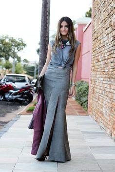 Moda - streetstyle look monochromatic para lucir mas alta