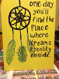 Hand painted canvas with dream catcher and a quote! on Etsy, $25.00
