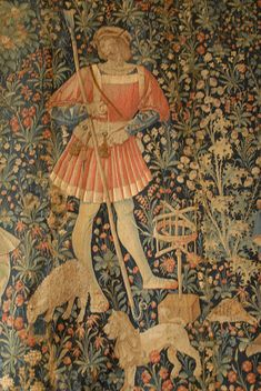 Late Medieval tapestry in the Louvre Museum showing a swift. Ala Professor Michael J. Fuller, Ph.D,Professor of Anthropology, St. Louis Community College. Medieval Life, Medieval Art, Unicorn Tapestries, Saint Georges, Medieval Tapestry, Renaissance Era, Book Of Kells, Historical Pictures, Middle Ages
