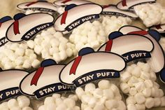 Stay Puft Marshmall Toppers inspired by by GeekPrintsandGifts